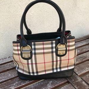 Burberry mini tote with top zipper